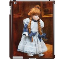 Red haired porcelain doll iPad Case/Skin