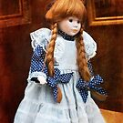 Red haired porcelain doll by steppeland
