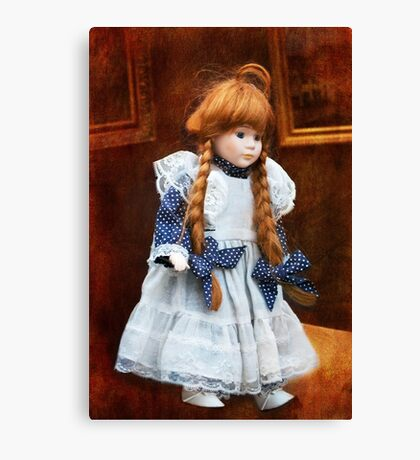 Red haired porcelain doll Canvas Print