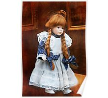 Red haired porcelain doll Poster