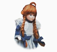 Red haired porcelain doll Kids Clothes
