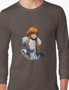 Red haired porcelain doll Long Sleeve T-Shirt