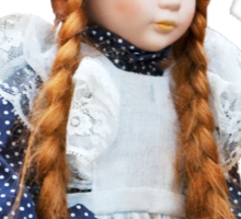 Red haired porcelain doll Sticker