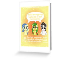 The Pony love Group Greeting Card