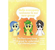 The Pony love Group Photographic Print