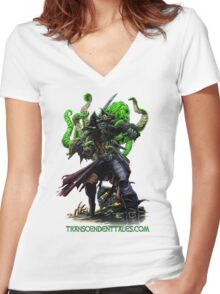 Zombie Pirate 2 Women's Fitted V-Neck T-Shirt