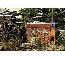 Chimayo Coke Machine Photographic Print