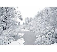 Magic white world Photographic Print