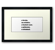 "The Breakfast Club ""Quote"" Framed Print"