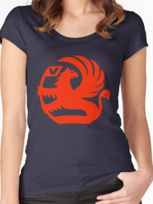 Vauxhall Emblem RED Women's Fitted Scoop T-Shirt