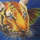 bathing tiger by resonanteye