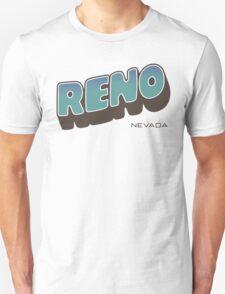 Reno - Retro Postcard Style Unisex T-Shirt