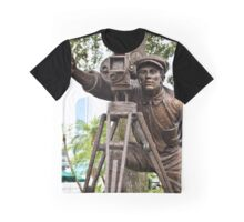 Hollywood Studios Film Director Statue Graphic T-Shirt
