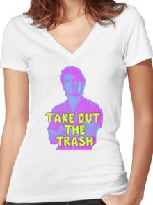 Roadhouse - Take Out The Trash Women's Fitted V-Neck T-Shirt