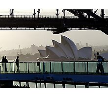 Sydney Opera House from cruise ship. Photographic Print