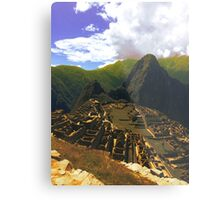 Brown machu picchu Metal Print