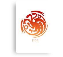 Team Fire Thrones/Pokemon Mashup Canvas Print