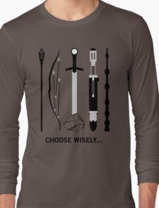 Choose Wisely! (Black Text) Long Sleeve T-Shirt