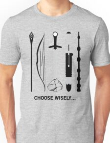 Choose Wisely! (Black Text) Unisex T-Shirt
