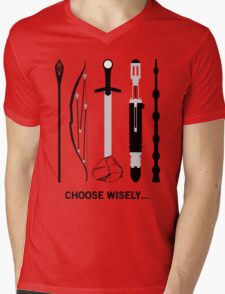 Choose Wisely! (Black Text) Mens V-Neck T-Shirt