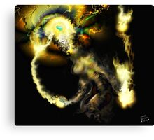 Liminal Light Creature [Digital Fantasy Figure Illustration]  Canvas Print