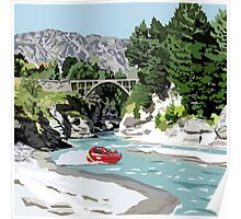 The Shotover River by Ira Mitchell-Kirk Poster