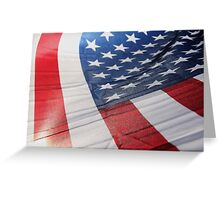 American Flag Abstract Greeting Card