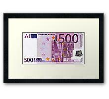 Five Hundred Euro Bill Framed Print