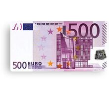 Five Hundred Euro Bill Canvas Print