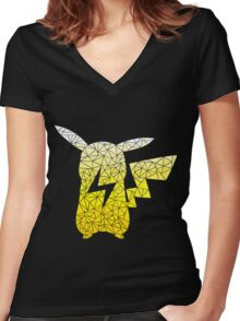 Pika-metric Women's Fitted V-Neck T-Shirt