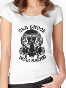 Old Skool Drag Racing Design Women's Fitted Scoop T-Shirt