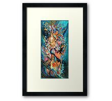 Under the light of Menorah Framed Print