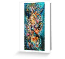 Under the light of Menorah Greeting Card