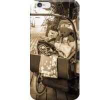 antique pram with teddies iPhone Case/Skin