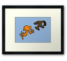 Octopi VS Platypi Framed Print
