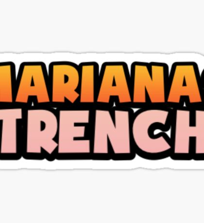 Marianas Trench Astoria Theme Letters Sticker