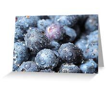 Bokeh Of Blueberries... Greeting Card
