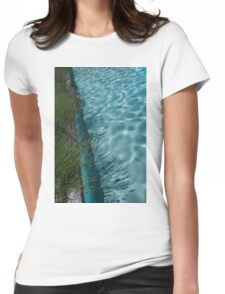 Aquamarine and Lavender - the Fragrant Edge of the Pool Womens Fitted T-Shirt