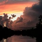 When the Sunsets Behind a Storm by barnsis