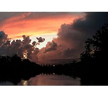 When the Sunsets Behind a Storm Photographic Print