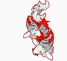 Koi Fish Design in red Unisex T-Shirt