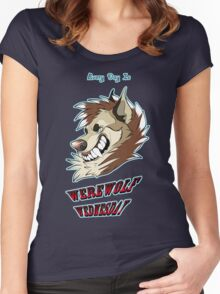 Every Day is Werewolf Wednesday! (color option #1) Women's Fitted Scoop T-Shirt
