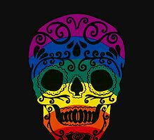rainbow sugar skull by Seymour  Art