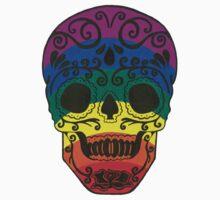 rainbow sugar skull Kids Clothes