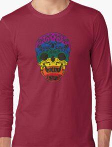 rainbow sugar skull Long Sleeve T-Shirt