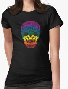rainbow sugar skull Womens Fitted T-Shirt