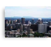 Montreal From Mont Royal Canvas Print