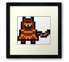 Pixel The Traveler Framed Print