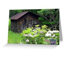 blooming old barn  Greeting Card