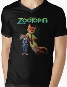 zootopia Mens V-Neck T-Shirt